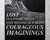 Cosmic Ocean, original relief print