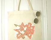 Super Maze - Hand Painted Cotton Tote Bag