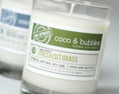 No. 130: FRESH CUT GRASS  // Natural Soy Candle // 13 oz // Highly Scented (Man-Approved)