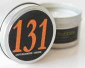 No. 131: SPARKLING MANDARIN and TANGERINE  // Natural Soy Candle // 6 oz Tin // Highly Scented