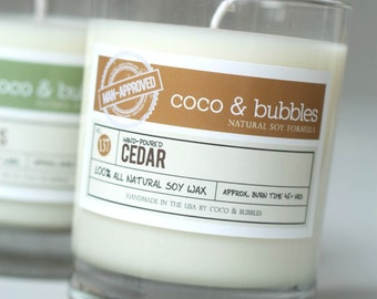 No. 137: CEDAR  // Natural Soy Candle // 13 oz // Highly Scented (Man-Approved)