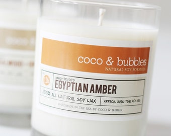 No. 126: EGYPTIAN AMBER  // Natural Soy Candle // 13 oz // Highly Scented