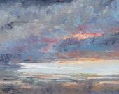 Ash Lake Winter - Original Oil Painting