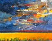 Harvest Storm - Original Oil Painting (Reserved)
