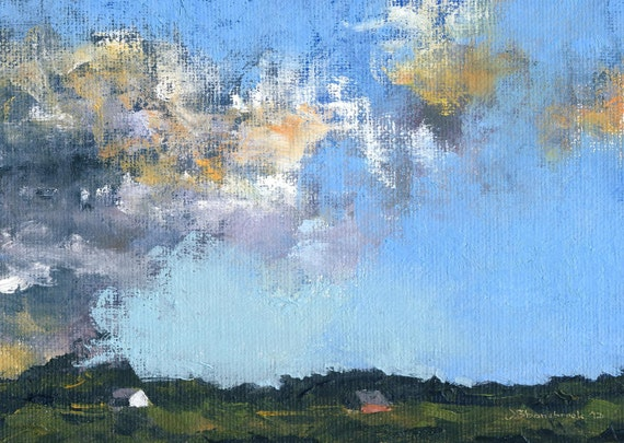 Orange Inclement - Original Oil Painting and Landscape Painting by Seminary Road Artists