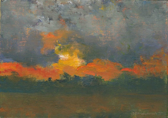 Hi Field, Dusk - Original Oil Painting and Landscape Painting by Seminary Road Artists