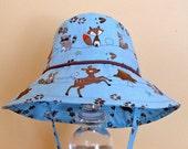Woodland Friends Boy Sun Hat - Infant to Toddler