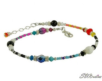 All Jazzed Up Capricious Funky Beaded Anklet