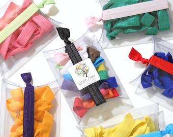 Baker's Dozen Pillow Boxes - 13 Elastic Hair Ties -  Great Gift