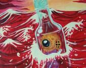 The Little Adventurer- Original Painting Diver