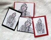 Emmett Kelly, Jr., Zentangle note cards