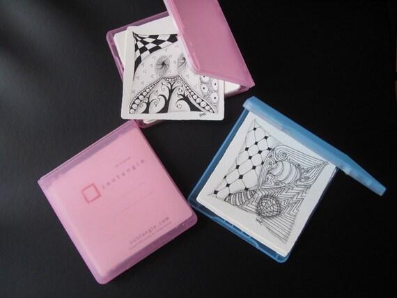 plastic case with Zentangle tiles