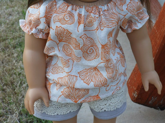 Tropical Poppies & Lace Outfit for American Girl Dolls