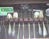 """Gorham """"Lily of the Valley"""" Sterling Silver complete Flatware set in Box"""