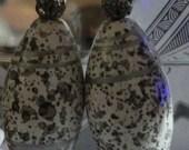 White Wooden Bead Earrings