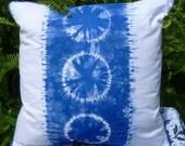 Indigo Blue Dyed Shibori Pillow Home Decor