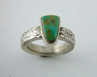 Verde Mine/Cerrillos Hills Turquoise Ring - Size 6 1/2  Direct from the MIner/Artisan