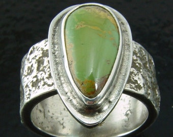 Verde Mine/Cerrillos Hills Turquoise Ring - Size 6 1/4  Direct from the MIner/Artisan