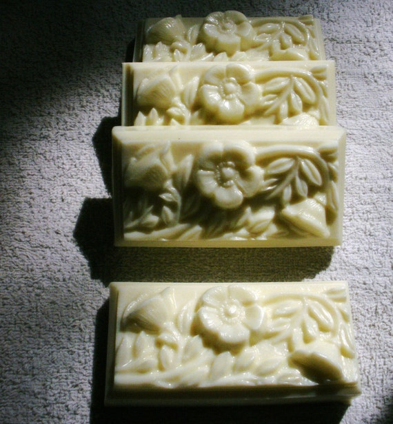SALE Strawberry and Vanilla Thistle Soap with French Green Clay