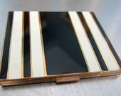 Vintage Art Deco Enamel Compact marked Elgin American