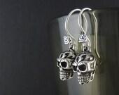 Skull Earrings Antique Silver Tribal Skull Earrings