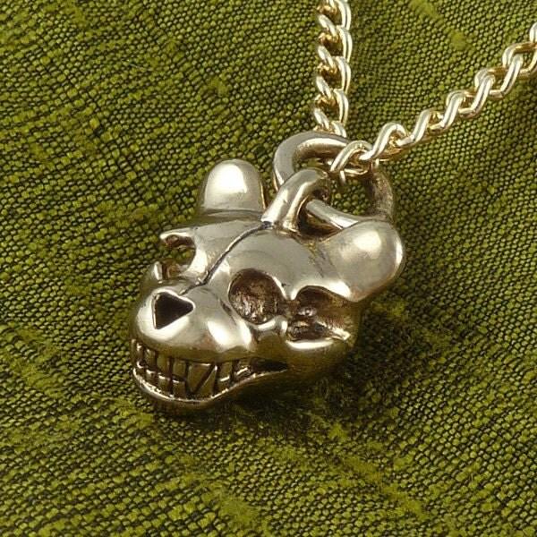 Teddy Bear Skull Drawing Teddy Bear Skull Necklace
