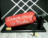 Message on a Bottle chalkboard style Red