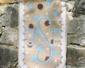 Monogram Burlap Banner