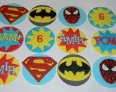 12 Superhero Toppers