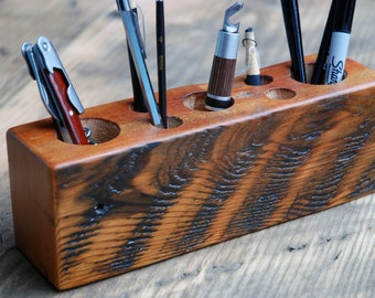 Reclaimed Timber Desk Caddy  No.031- L