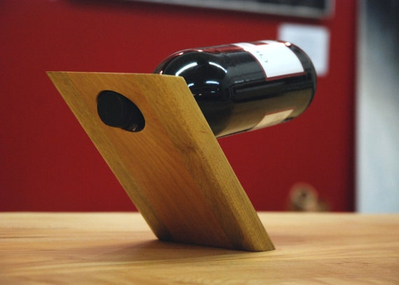 Salvaged Maple and Myrtlewood Balanced Wine Bottle Display
