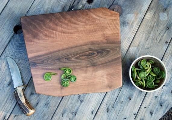 Walnut Waterfall Cutting Board No.089  XL