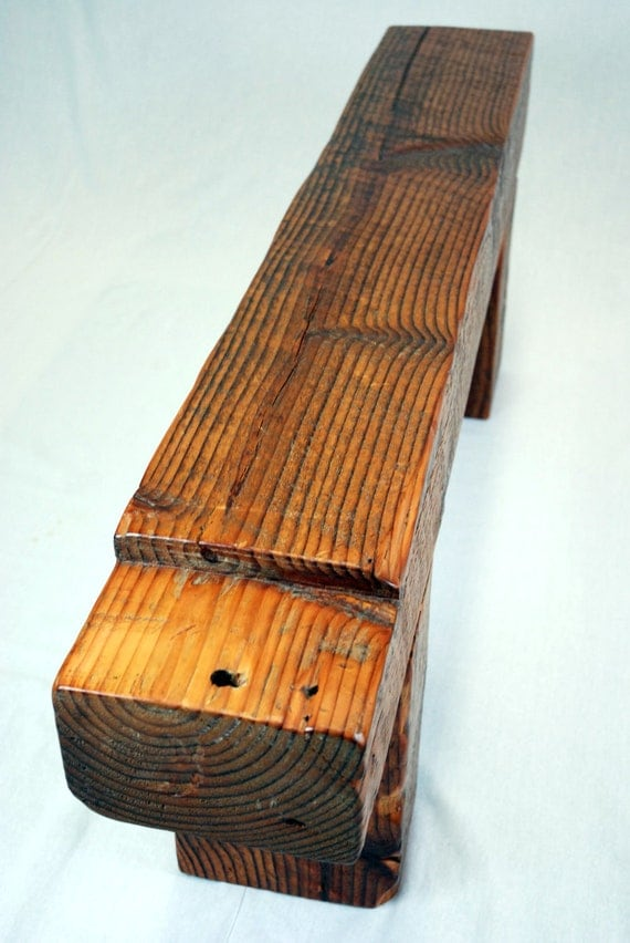 Timber Frame Beam Bench in Reclaimed Fir