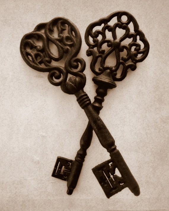 Items similar to keys fine art photography vintage for Art with old keys