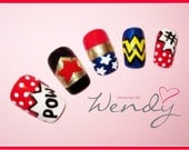 Wonder Woman Comic Book Nails