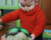 Wrap Neck Sweater and Hat  - 3 to 24 months