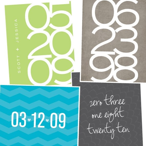 Custom Date Art Print / Typography Personalized Anniversary Gift / 8x10 Graphic Digital Print / Wall Art Poster / Design Your Own