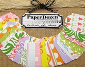 Favor Tags / Gift Tag / Price Tag / Party Decoration / Small Wish Tree Tags / Escort Card Tags / Cardstock Tags / Pattern Tags- Spring
