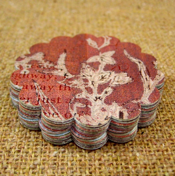 1.50 Sale- Scallop Circle Shape (Old World Collection ) DCWV- Textured ... 2 Dozen