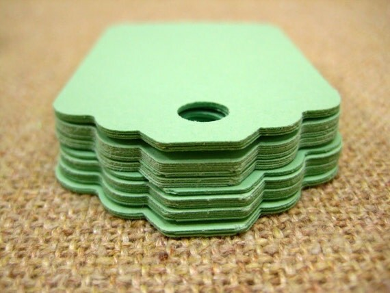 Dollar Sale- Tags- Mint Green Collection (No Strings Attached) Tags-  2 1/2 Dozen