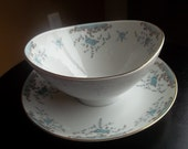 Vintage Imperial China Blue Roses Seville Gravy Bowl by SimplyUpStanding