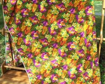 Fabric Bark Cloth Floral Cotton Yardage Destash Offering