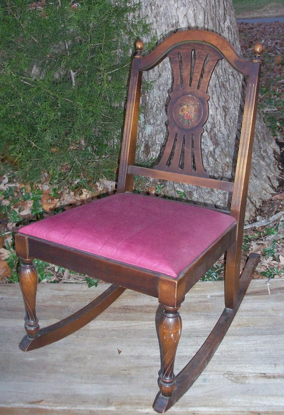 Ladies Armless Rocker Comm of Pa Labor Industry Numbered Piece REDUCED Great Find