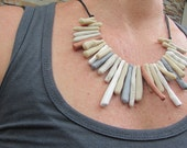 sandy beachy coloured and textured necklace