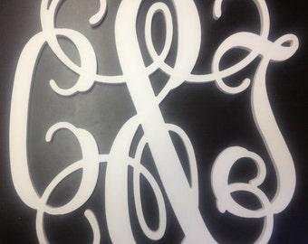 16 inch WHITE PVC Vine connected monogram letters - weddings