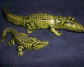 Very Cute Mother and Baby Ceramic Aligators