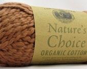 Organic Cotton Yarn Pecan Brown Lion Brand Nature's Choice