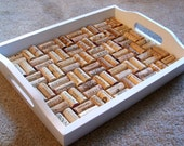 Lovely White Wine Cork Serving Tray 96 DIFFERENT WINERIES REPRESENTED