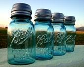 Mason Jar Solar Light Lantern LIDS - Set of 4 - High Quality