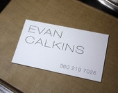 The Thin Helveticard – Custom Letterpress Printed Calling Cards 100ct